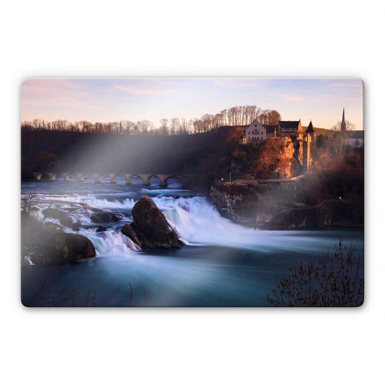 Glasbild Rheinfall