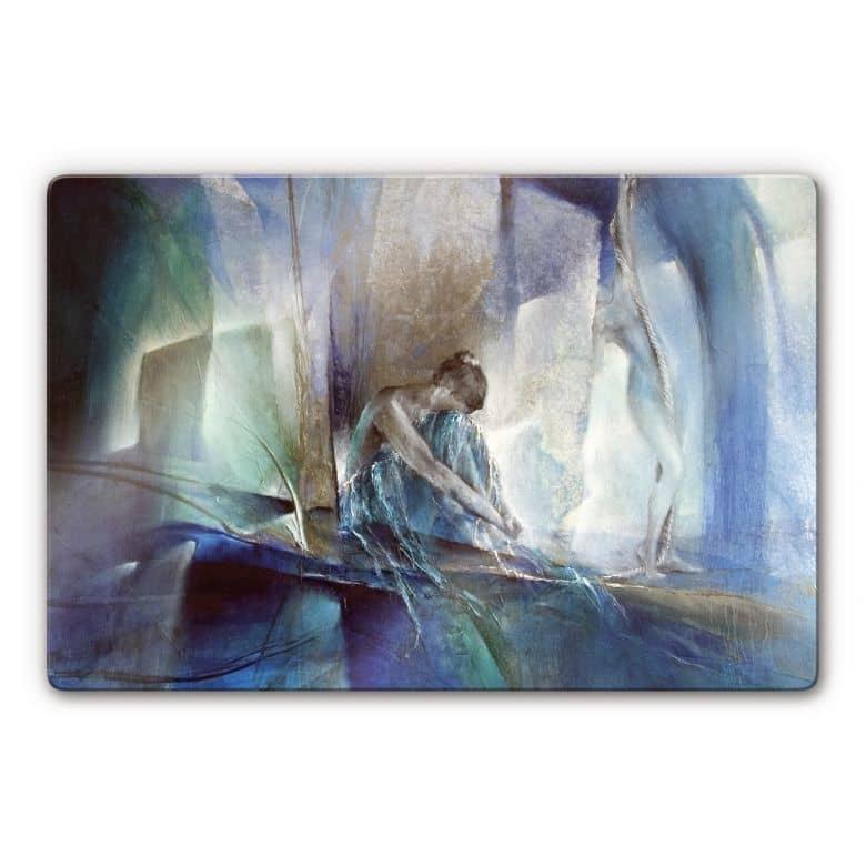 Glasbild Schmucker - Im blauen Raum