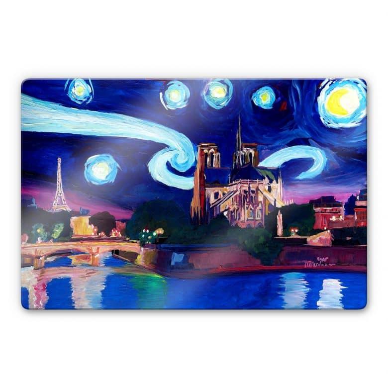 Glasbild Bleichner - Paris bei Nacht