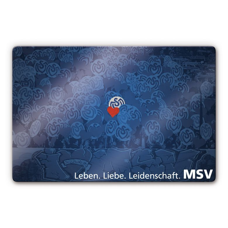 Glasbild MSV Duisburg Leitbild