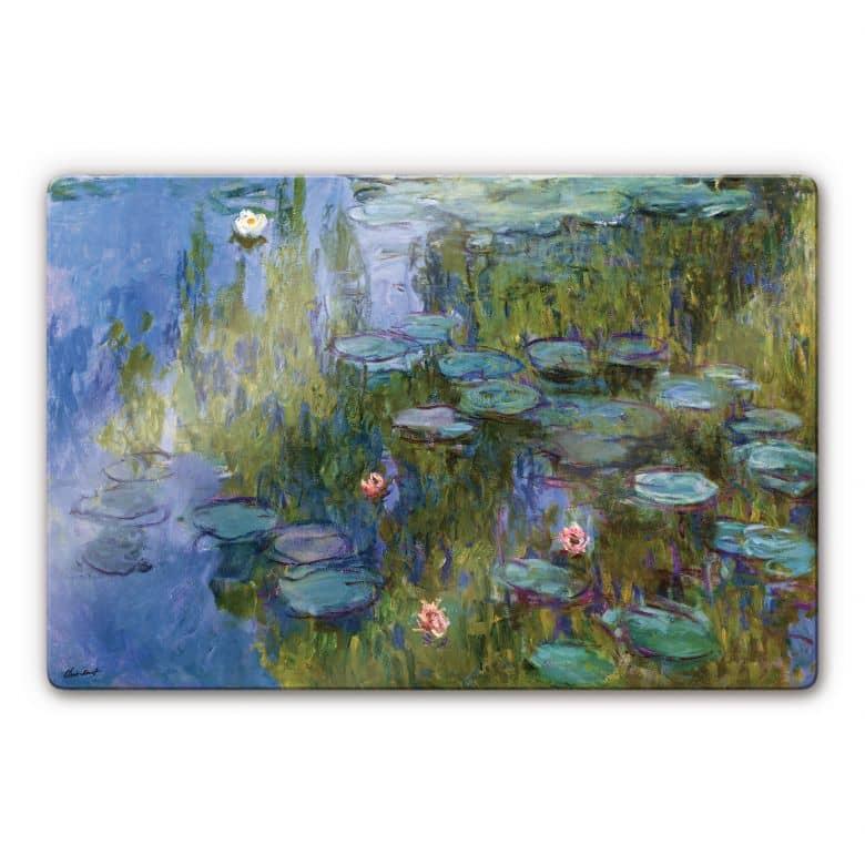 Glasbild Monet - Seerosen 1918