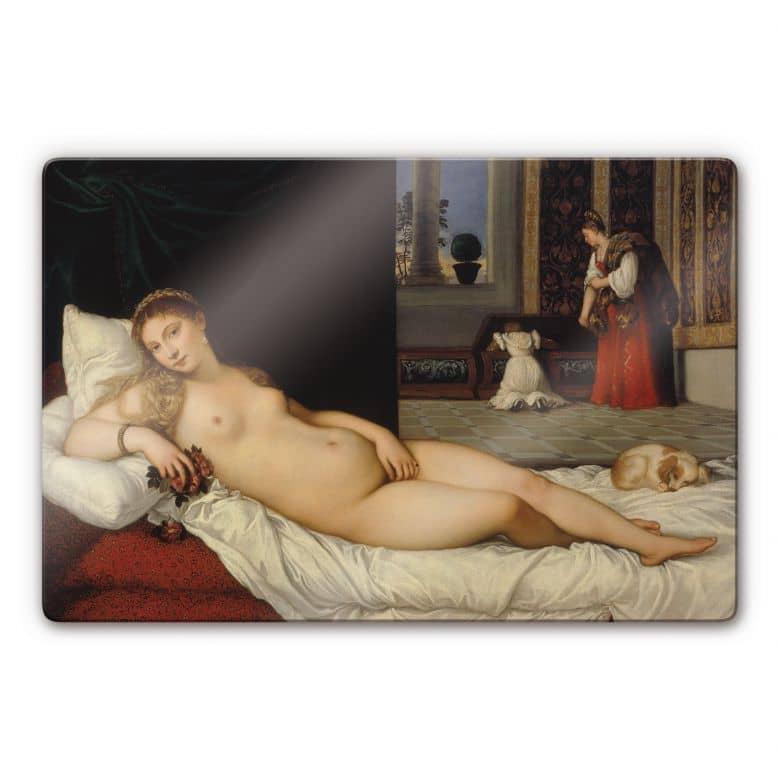 Glasbild Tizian - Die Venus von Urbino