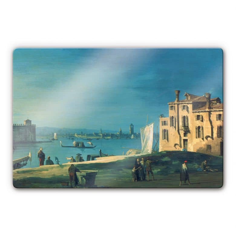 Glasbild Canaletto - Blick von San Pietro auf dieInsel Murano