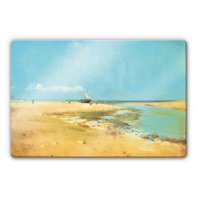 Glasbild Degas - Strand bei Ebbe