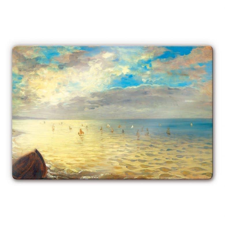 Glasbild Delacroix - Das Meer