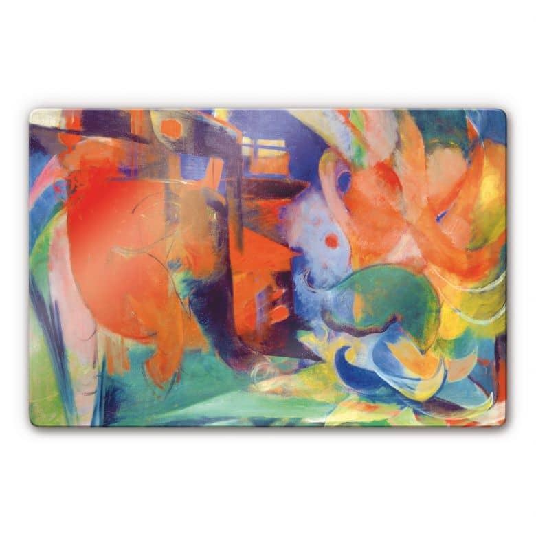 Glasbild Marc - Abstrakte Formen II