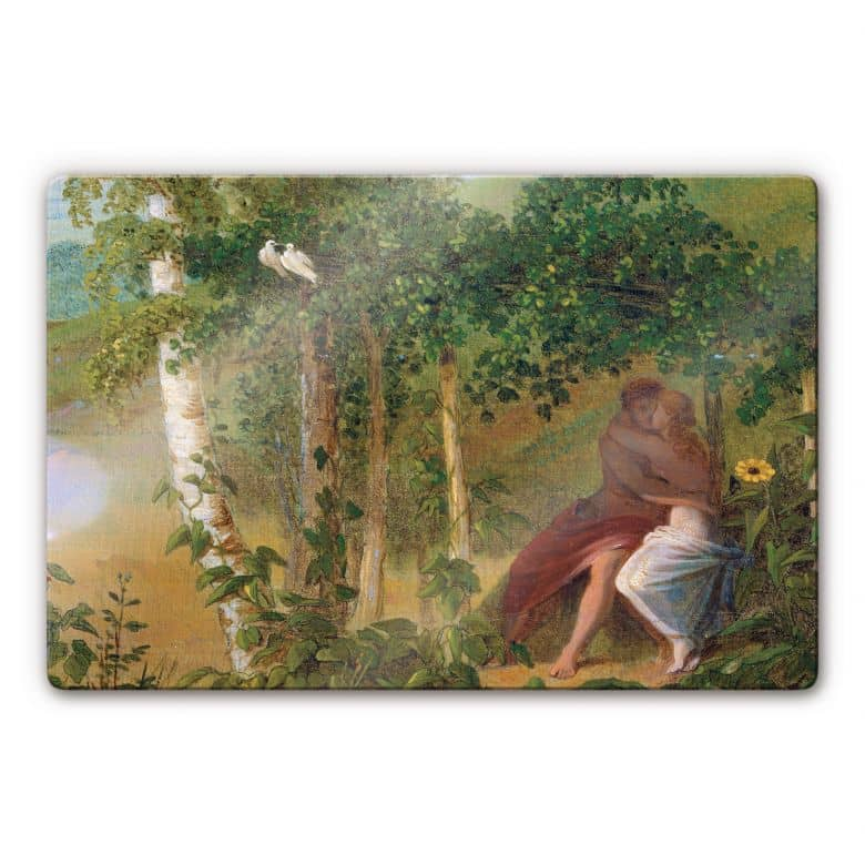 Glasbild Friedrich - Liebespaar