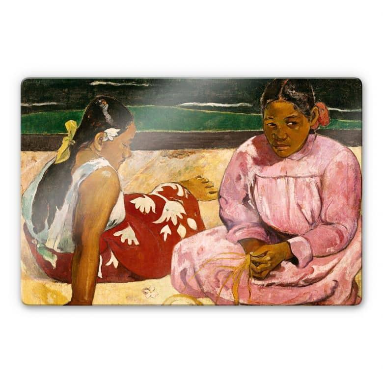 Glasbild Gauguin - Frauen von Tahiti