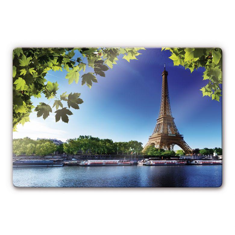 Glasbild Summer in Paris