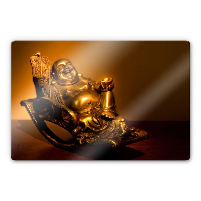 Glasschilderijen Blije Boeddha