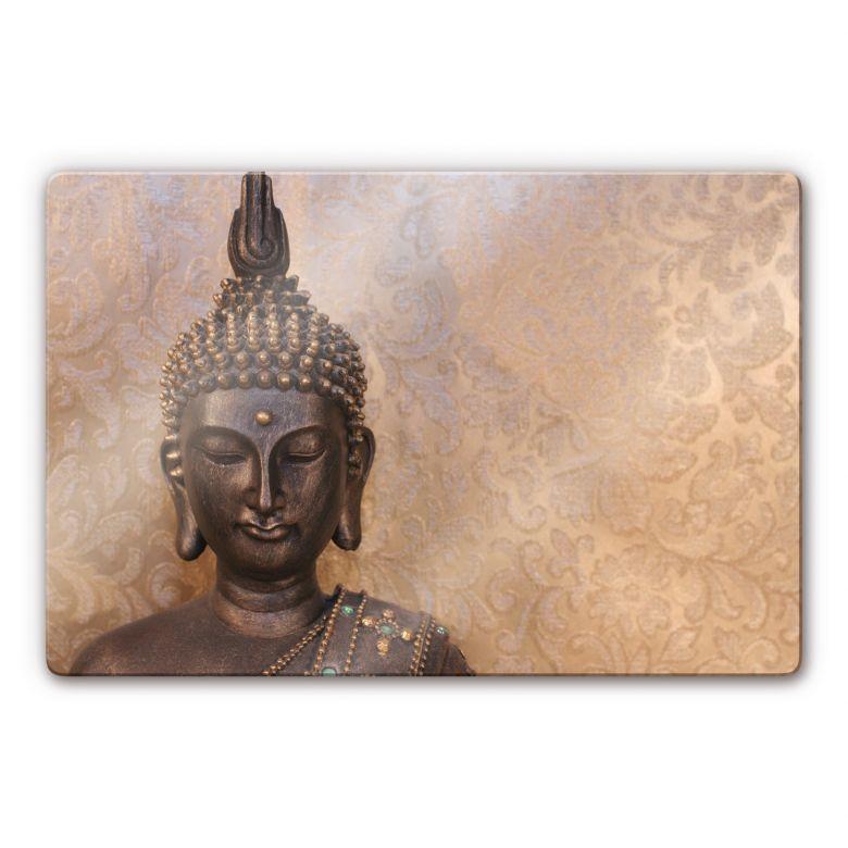 Glasbild Buddha der Weise
