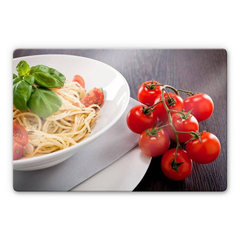 Glasbild Pasta Italiana