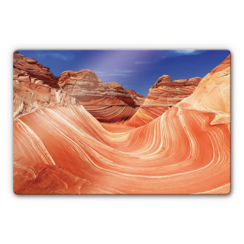 Glasbild - The Wave in Arizona