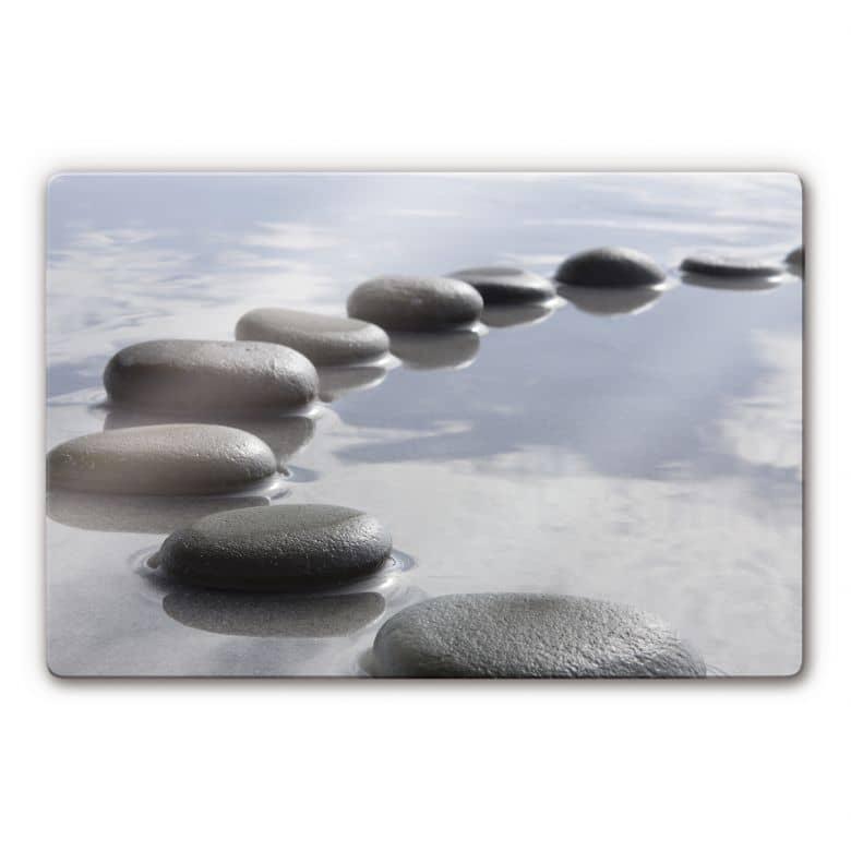 Stone path Glass art