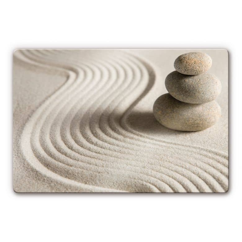 Glasbild Stone in Sand 2