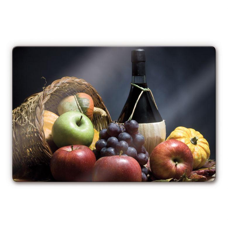 Wine and Grape Glass art