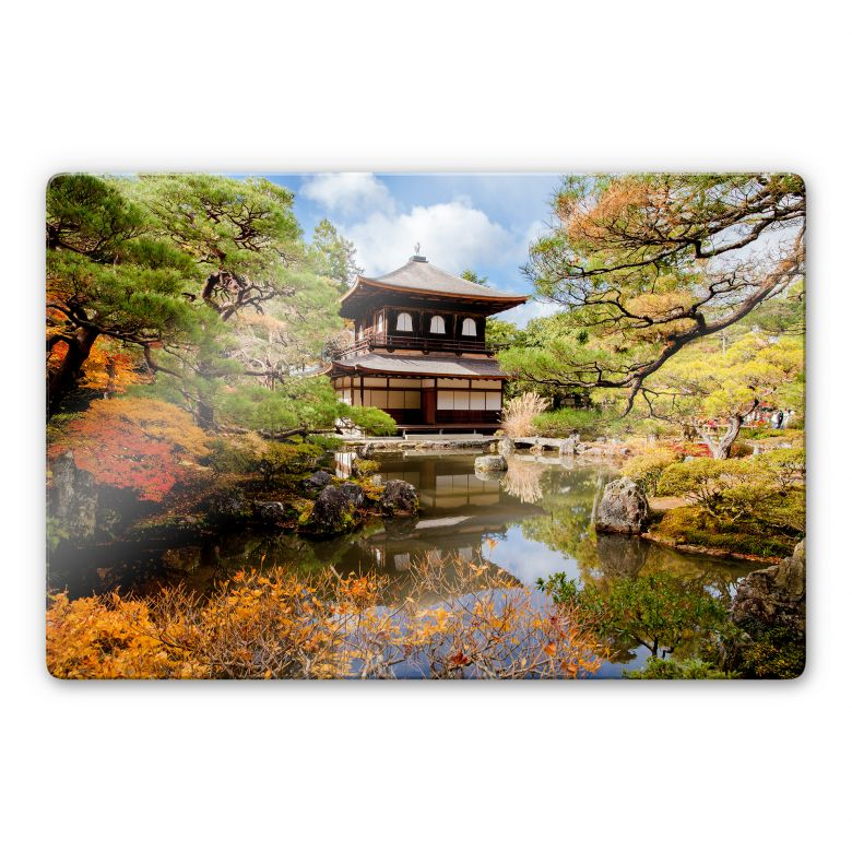 Glasbild Japanischer Tempel 2