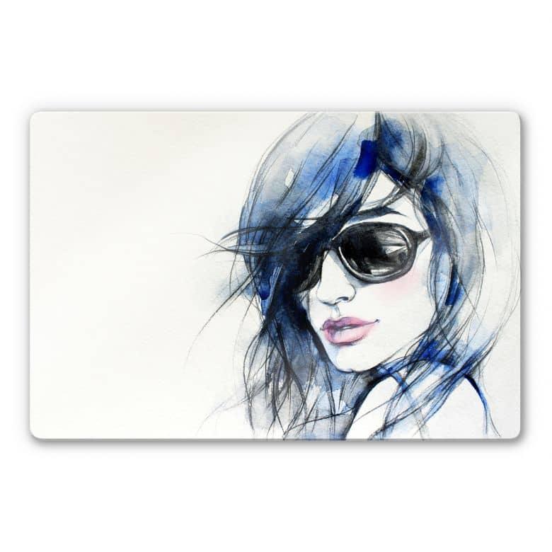 Glasschilderijen I wear my Sunglasses