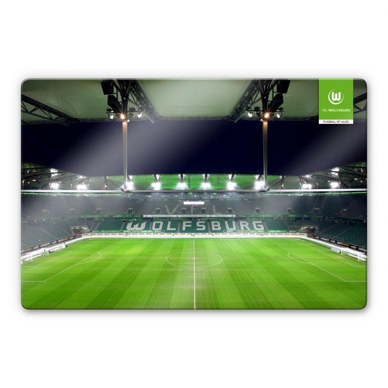 Glasbild VfL Wolfsburg Volkswagen Arena Tribüne