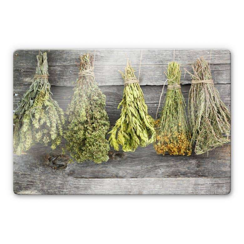 Tableau en verre - Herbes séchées