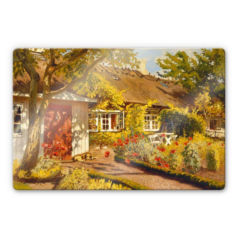 Glasbild Langer - Das Gartenhaus