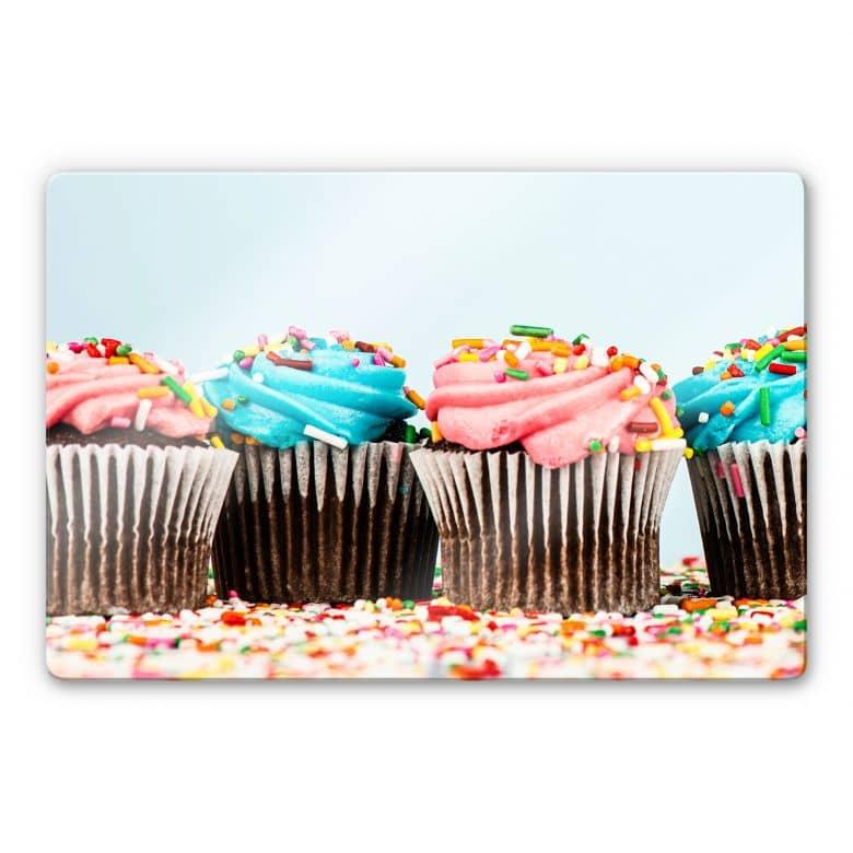 Glasbild Party Cupcakes