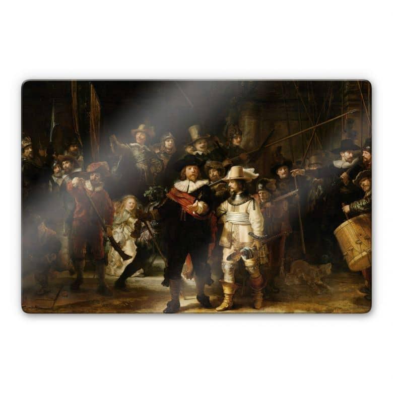 Glasbild Rembrandt - Die Nachtwache