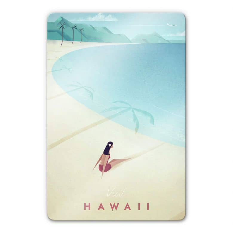 Glasbild Rivers - Hawaii