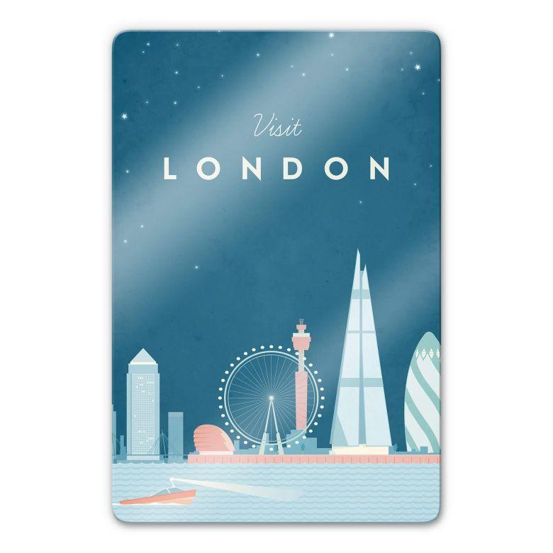 Glasbild Rivers - London