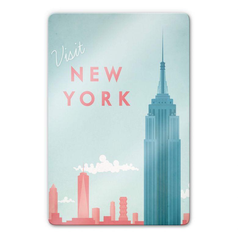Glasbild Rivers - New York