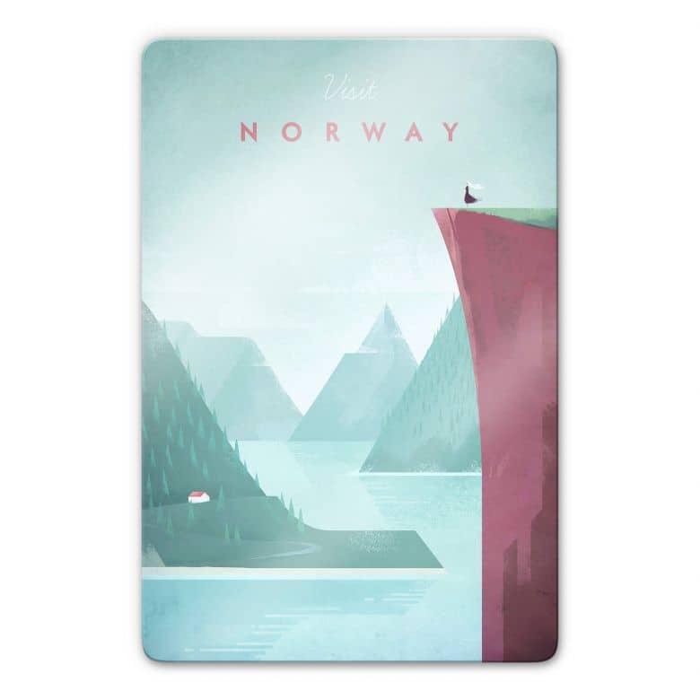 Glasbild Rivers - Norwegen
