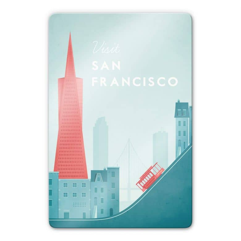 Glasbild Rivers - San Francisco