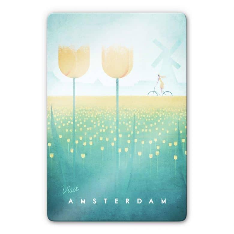Glasbild Rivers - Amsterdam