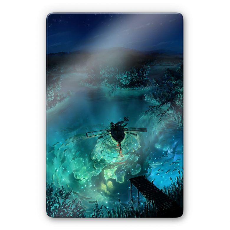 Glasbild aerroscape - Unterwasser Galaxie