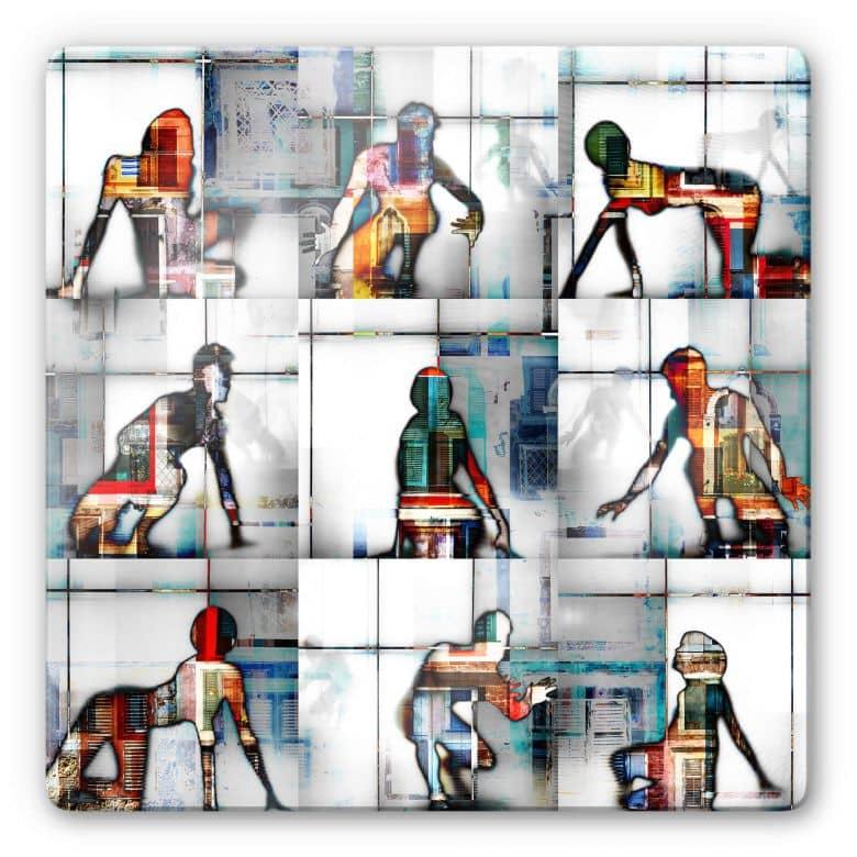 Glasbild Shrayer - Body Language 56