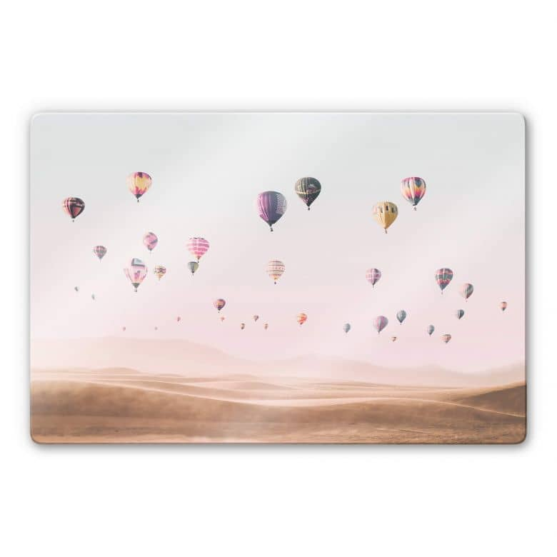 Glasbild Sisi & Seb - Heißluftballons