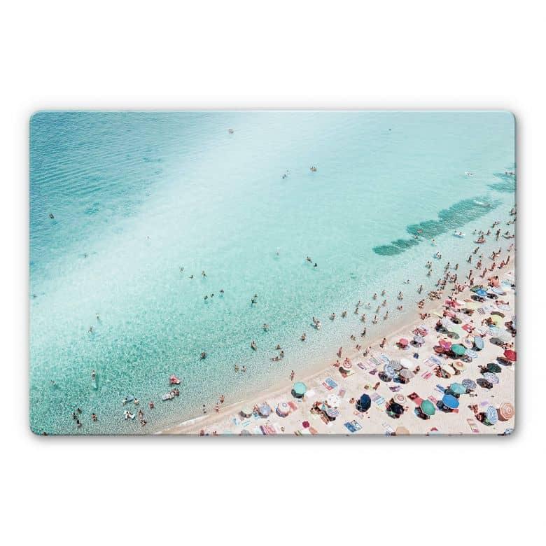 Glasbild Sisi & Seb - Treiben am Strand