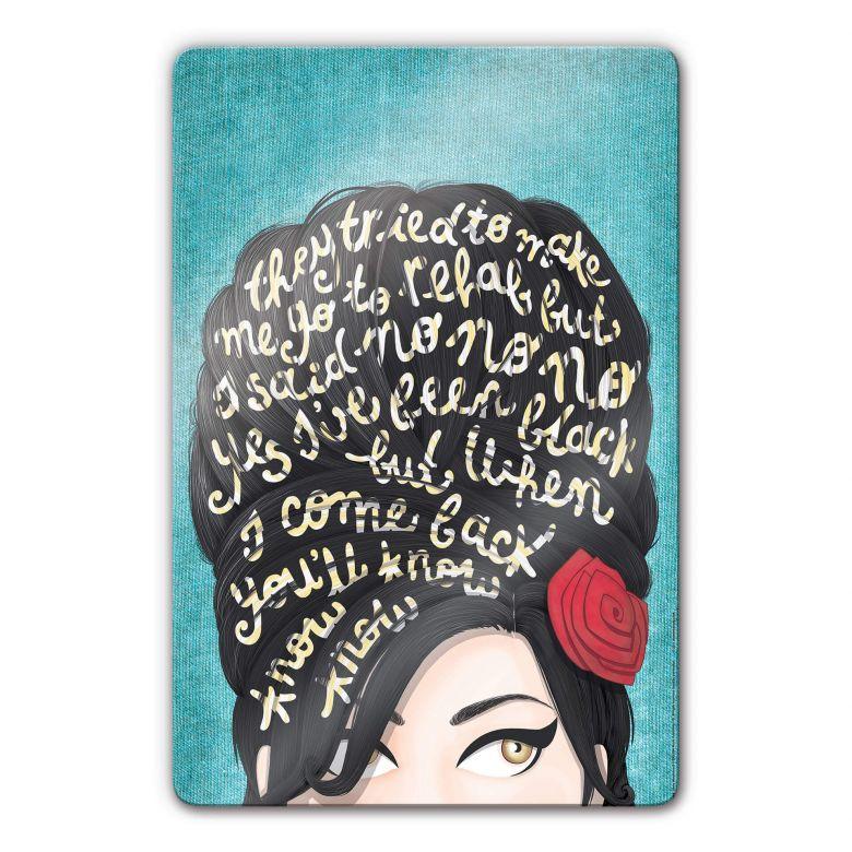 Glasbild Tohmé - Amy Winehouse: Rehab