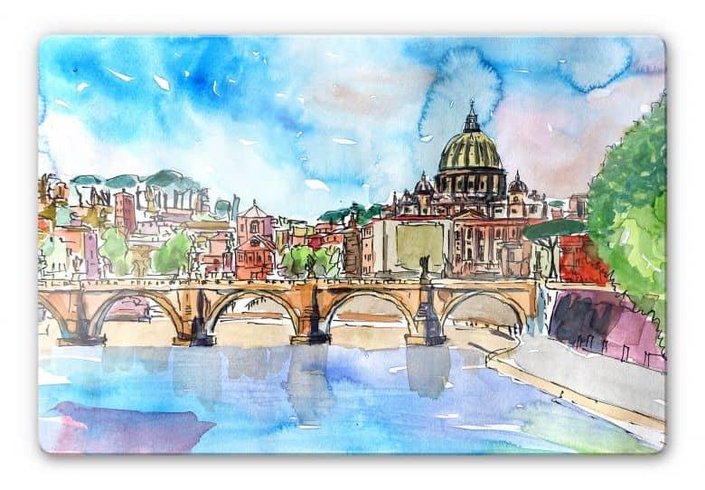 Glasbild Bleichner - Vatican in Rome