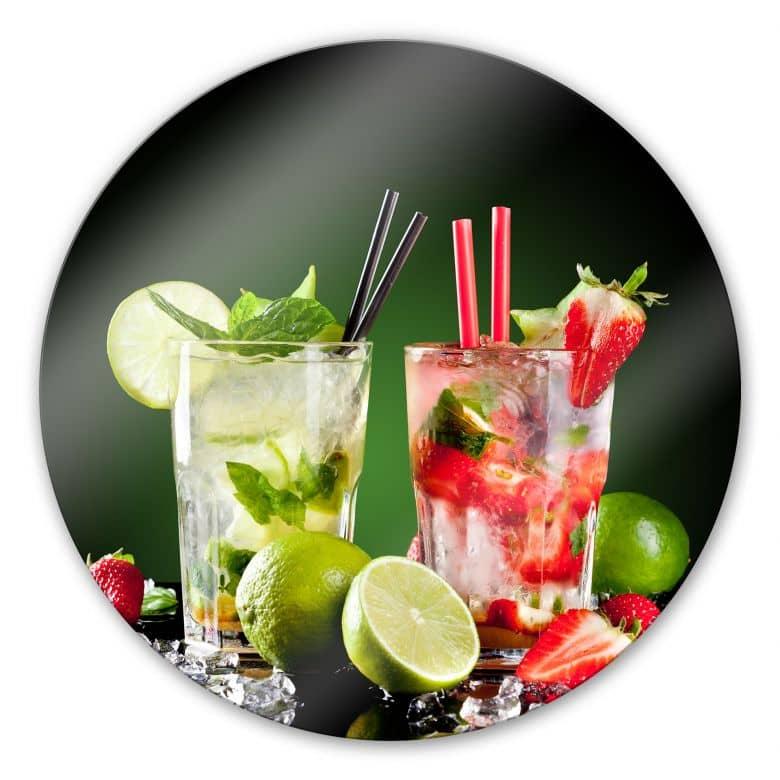 Glasbild Cocktail Hour - rund