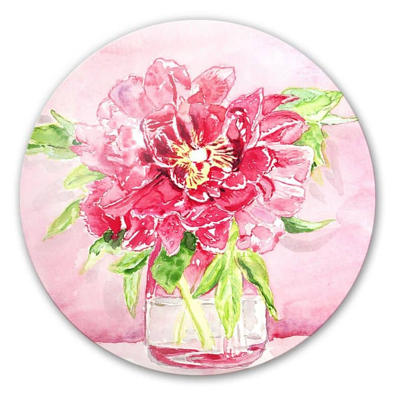 Glasbild Toetzke - Bouquet for Mavis - rund