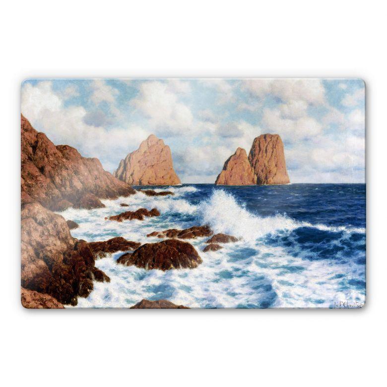 Glasbild Choultsé - Die Felsen bei Capri