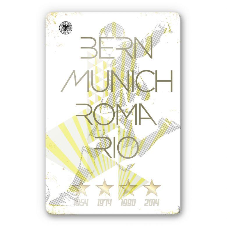 Glasbild DFB - Weltmeister Deutschland