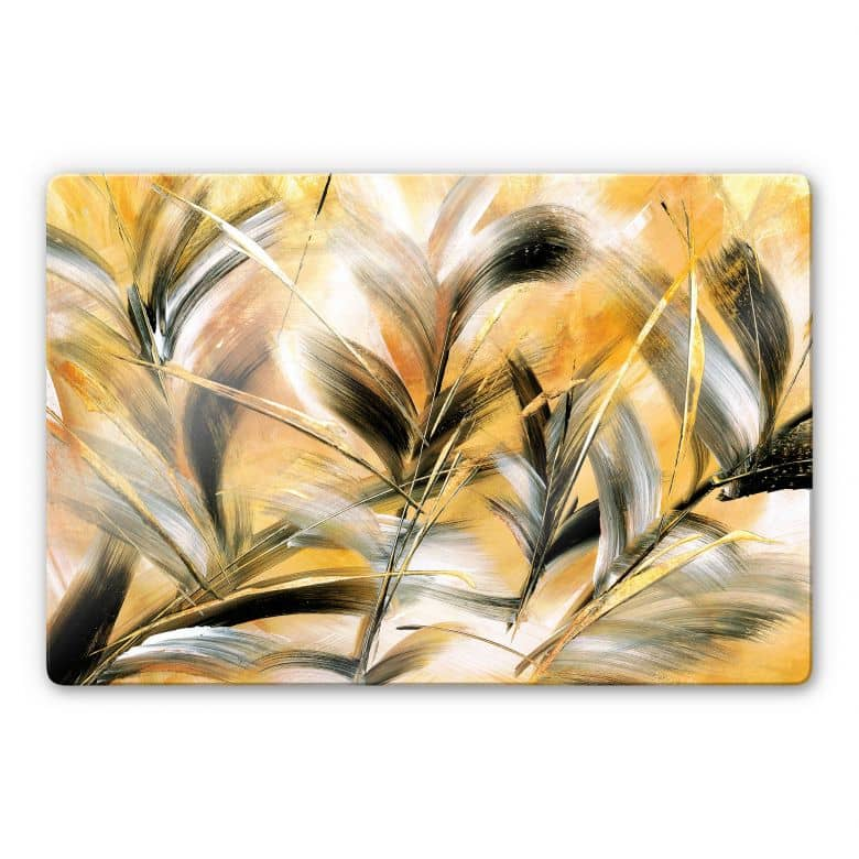 Glasbild Niksic - Gräser