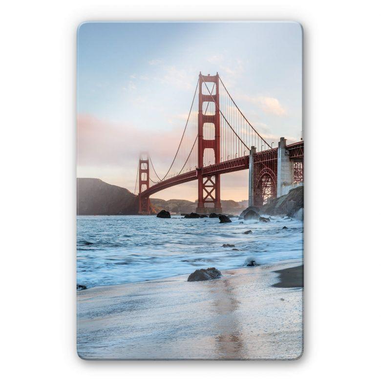 Glasbild Colombo - Golden Gate Bridge