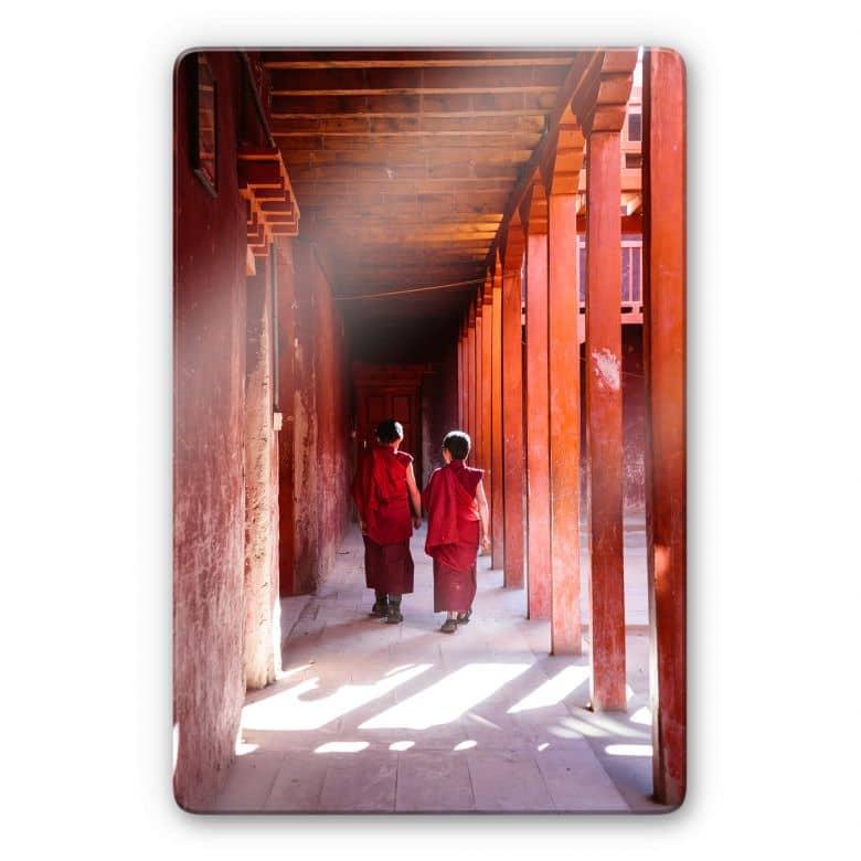 Glasbild Colombo - Mönche in Nepal