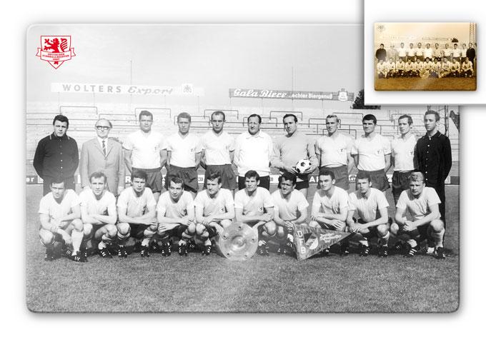 Glasbild Eintracht Braunschweig Meistermannschaft 1967
