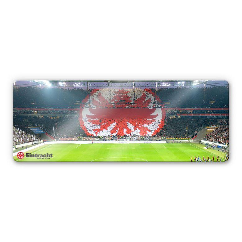 Glasbild Eintracht Frankfurt Arena Fanlogo - Panorama