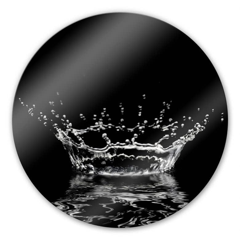Glasbild Wassertropfen - rund