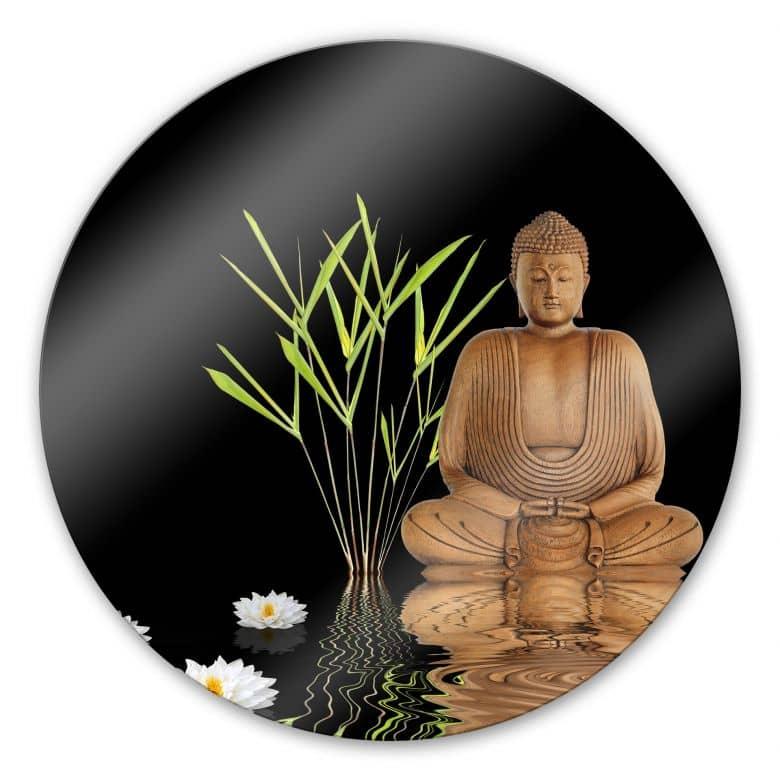 Glasbild Zen Buddha - rund